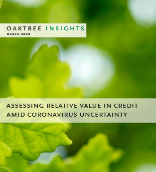 Assessing Relative Value in Credit amid Coronavirus Uncertainty