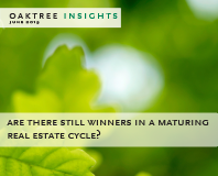 Are There Still Winners in a Maturing Real Estate Cycle?