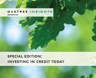 Investing in Credit Today
